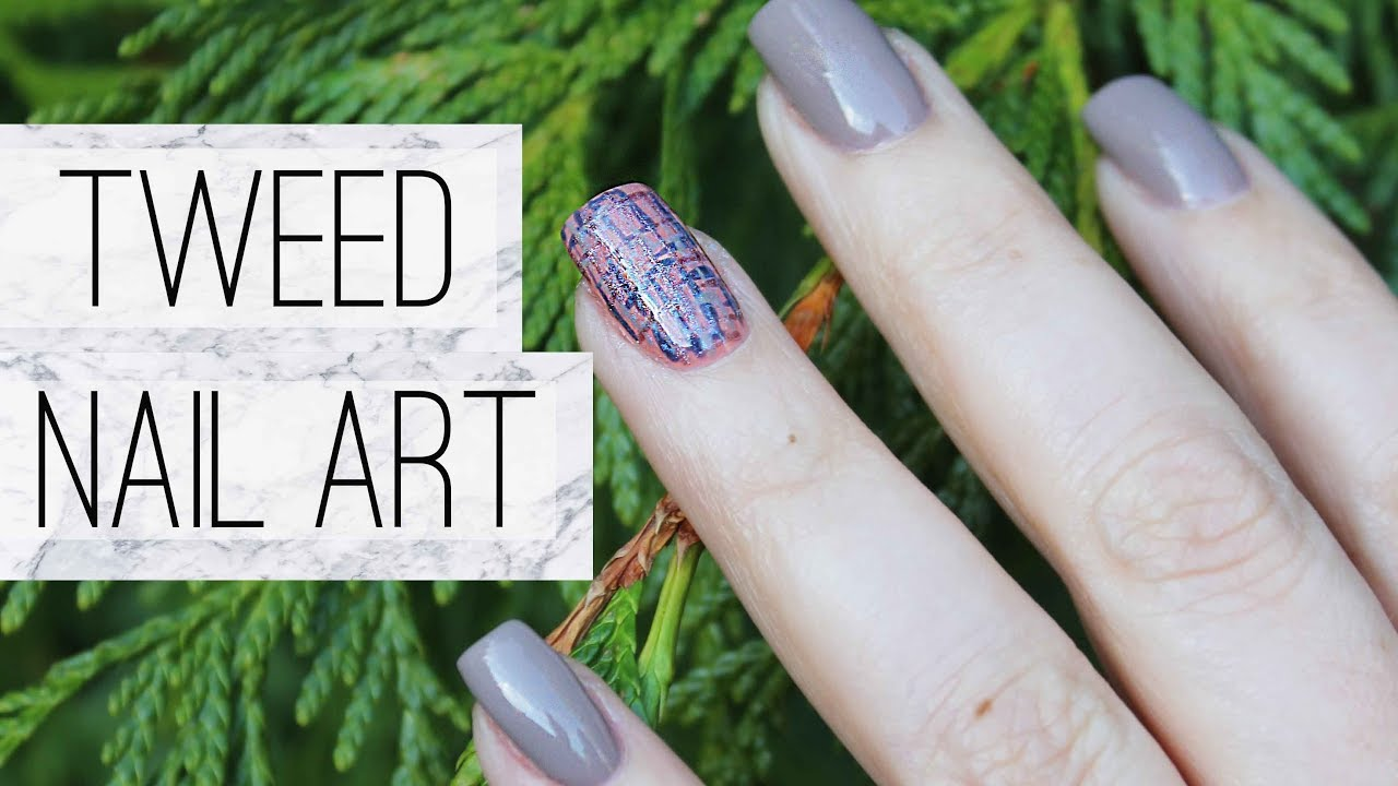 Fall Tweed Nail Art Opi Gel Polish Tutorial Youtube