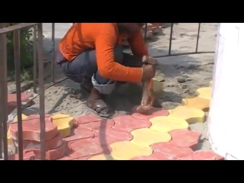 how to install interlock pavers