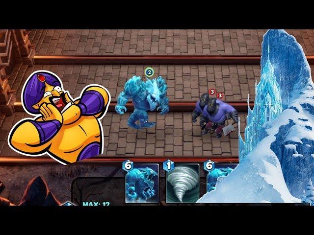 Castle Crush - New Hero - Ice Elemental (4x) vs 2 Executioner   Part 147 - BSG