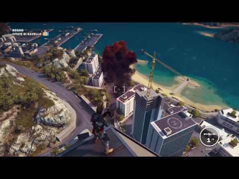 Just Cause 3 Epic Petrol Station Explosion Into Giant Fall L