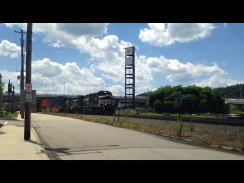 NS train causes lots of traffic in Homestead PA at the Waterfront