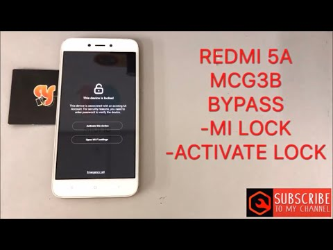 Redmi 5A Mi Account Look Remove unlock by miracle crack by Happy for You