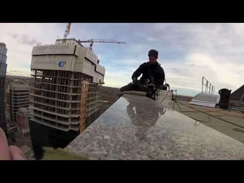 INDUSTRIAL ROPE ACCESS WORK- High-rise window cleaning Calgary