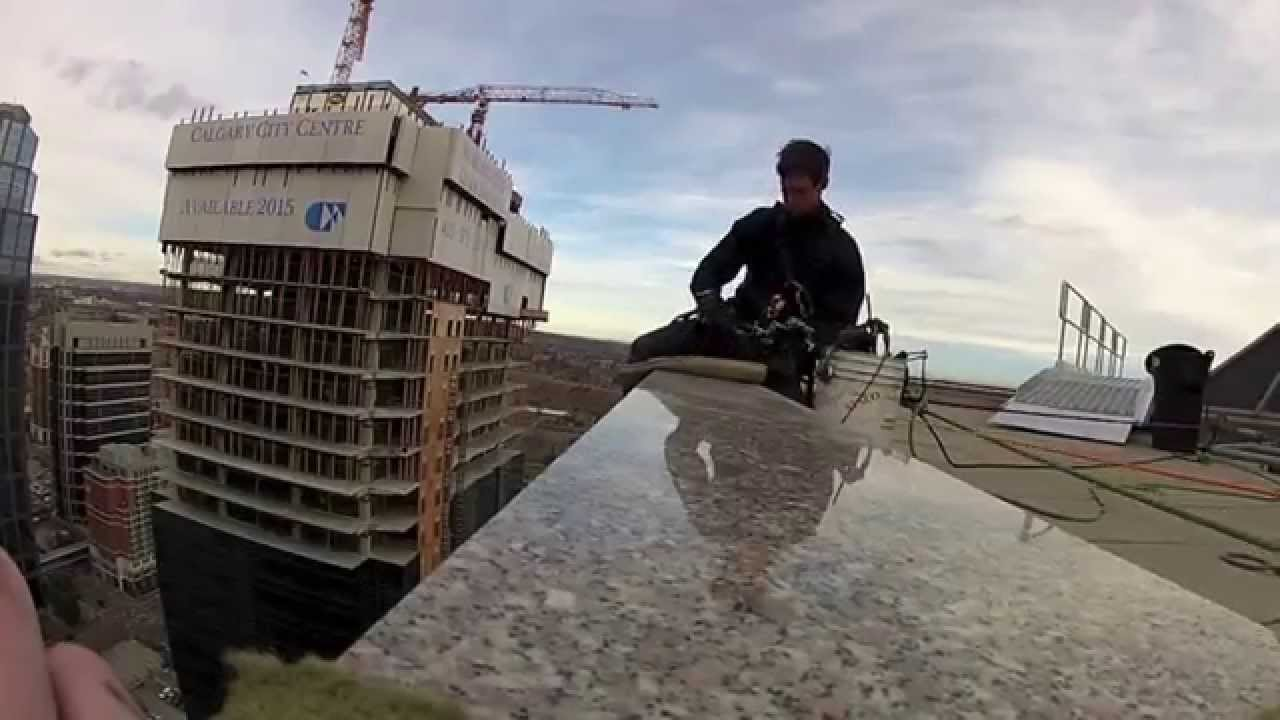 INDUSTRIAL ROPE ACCESS WORK High Rise Window Cleaning