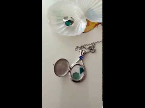 MAKO MOON RING and H2O locket - Anello della luna e ciondolo di Cleo