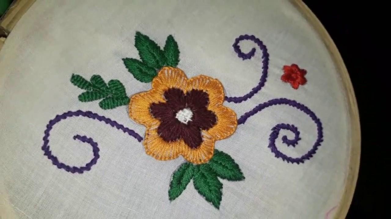 Simple Embroidery Designs Of Flowers Wajiflower Co