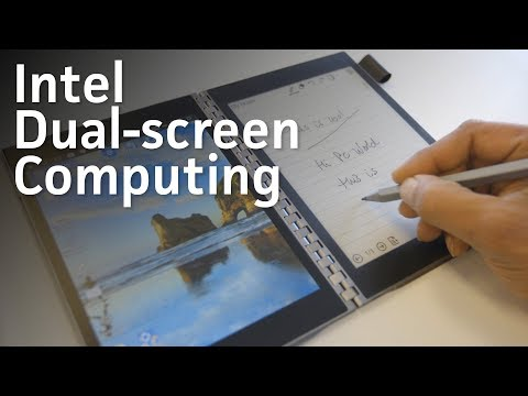 Intel shows off the dual-screen future of PCs