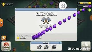 Khang Clash of Clans |Đánh chay phù thủy bóng đêm lv12....