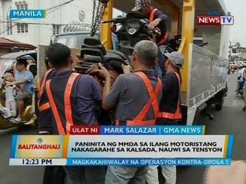 BT: Paninita ng MMDA sa ilang motoristang nakagarahe sa kalsada, nauwi sa tensyon