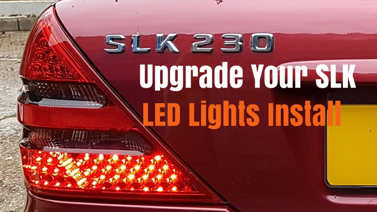 Mercedes SLK R170 Rear LED Lights Removal Replacement Upgrade - YouTube
