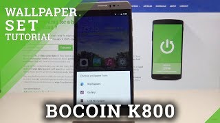 How to Change Wallpaper in BOCOIN K800 - Desktop Update
