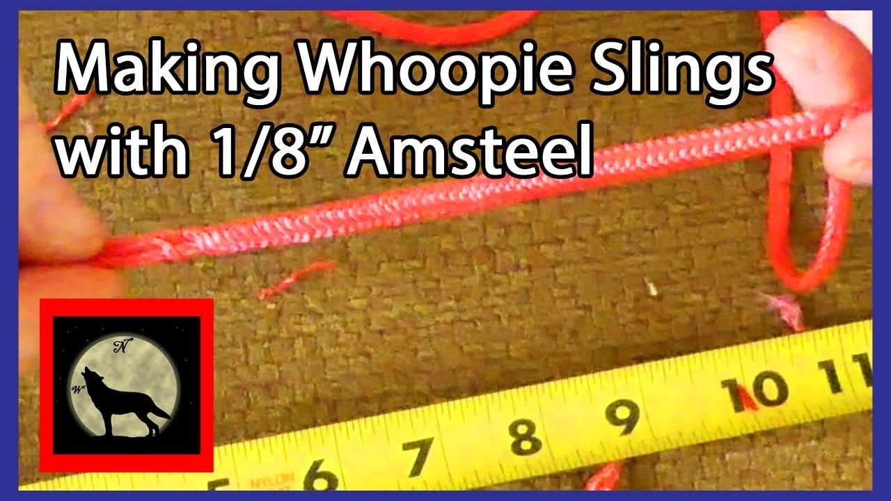 making big whoopie slings for your hammock with 1 8th amsteel making big whoopie slings for your hammock with 1 8th amsteel      rh   youtube