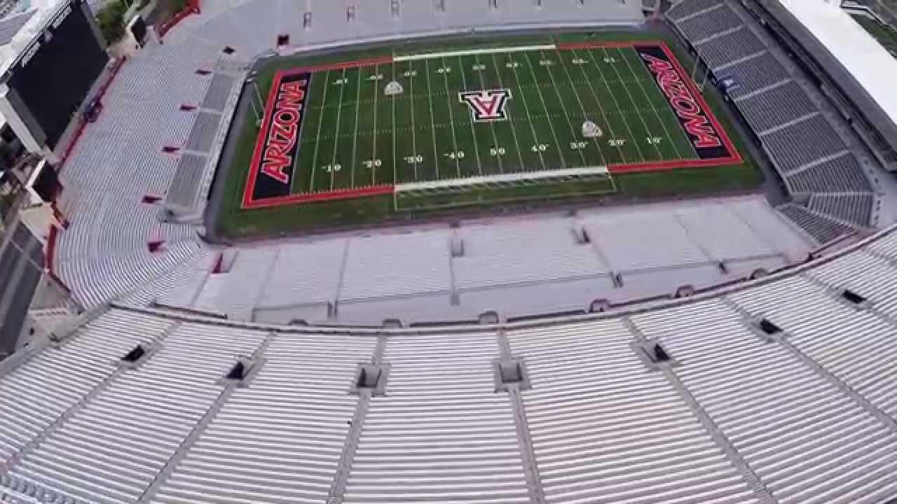 university of arizona football stadium aerial video