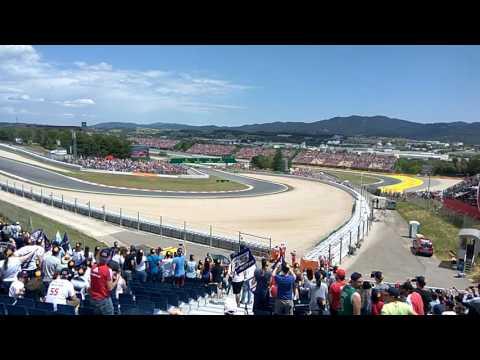 F1 GP Spain 2017 start live - Tribune M