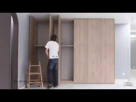 Casa adapt montaje armario puertas batientes youtube - Montaje armario empotrado ...