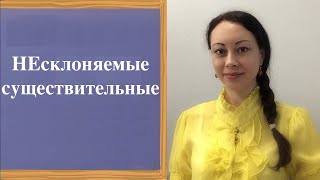 INDECLINABLE NOUNS in Russian
