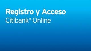 Citi Citibank Online -- Registro y acceso