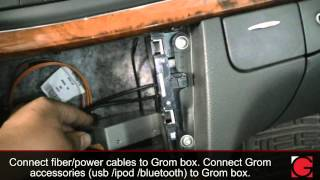 Video HOW TO remove car stereo from 2005 Mercedes E320 and install Bluetooth Android Car Kit by GROM download MP3, 3GP, MP4, WEBM, AVI, FLV November 2017
