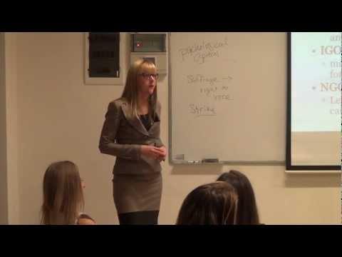 Sarah Perrine - Women in Non-Governmental Organizations