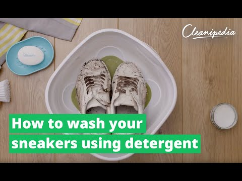 How to wash sneakers with detergent | Cleanipedia