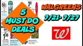 5 MUST DO WALGREENS DEALS 7/21 - 7/27 | CHEAP DEODORANT, BODY WASH, HAND SOAP & MORE!
