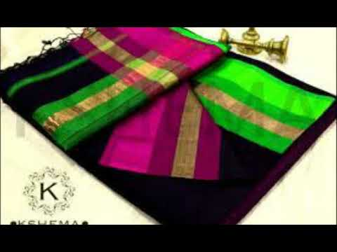 Chiffon Ribbon Work Sarees Designs