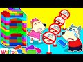 Don't Break My Playhouse ! Let's Play Together! Wolfoo Learns to Share | Wolfoo Family Kids Cartoon