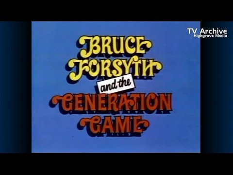 BRUCE FORSYTH'S GENERATION GAME (BBC ONE - 1973)