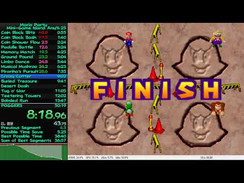 \Personal Best for Mini Game Island Any% 43:56 (Emulator)