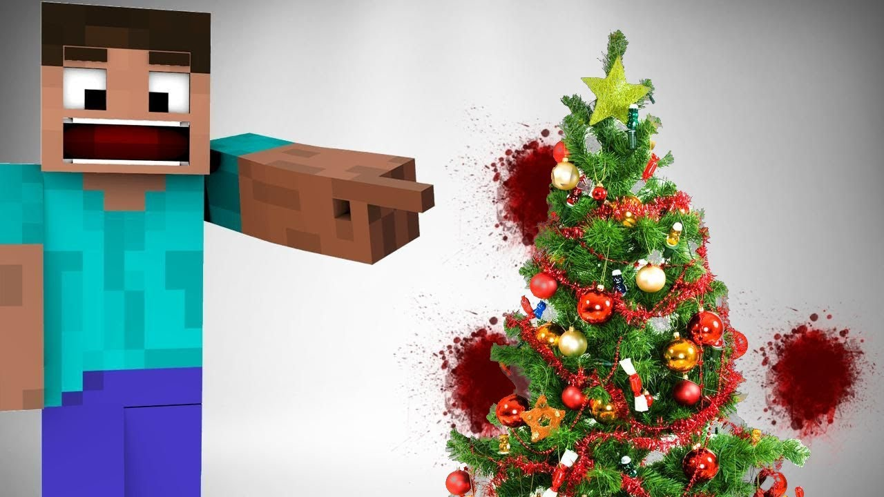 Minecraft Steve Dies Again Evil Christmas Tree