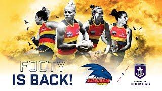 2019 AFLW pre-season trial match: Adelaide Crows vs Fremantle