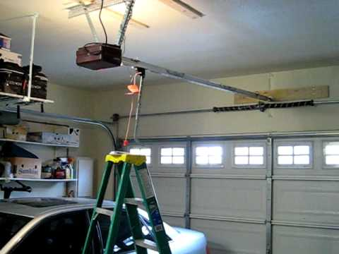 noisy genie screw drive garage door opener  YouTube