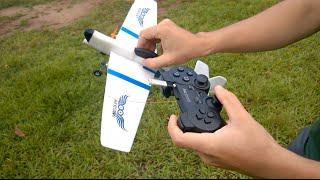 Teste de Voo - Projeto Aeroino - Avião de Controle Remoto com Arduino #baixocusto
