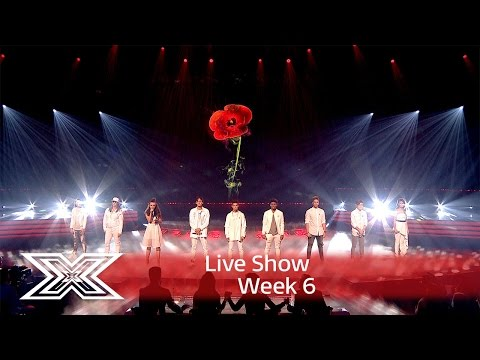 The Contestants open the show with Rise up | Results Show | The X Factor UK 2016