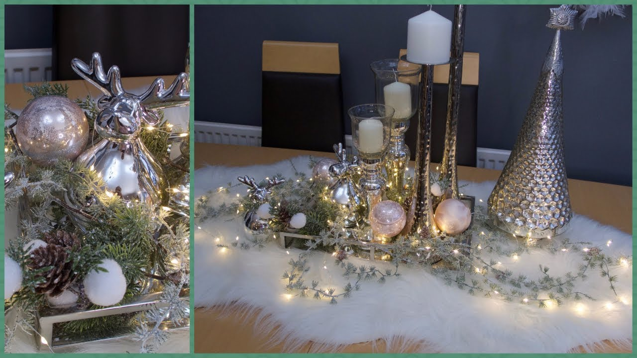 christmas tablescape decor for coffee or dining table