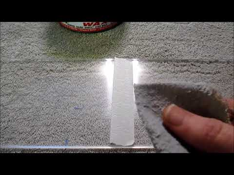 Polish scratches out of plexiglass using Novus 2 or Turtle Wax
