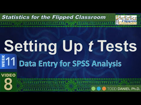 11-8 Setting Up t Tests in SPSS
