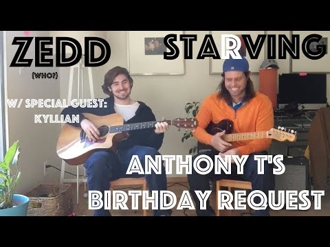 Guitar Lesson: (Anthony T's Birthday Request) Starving By Zedd