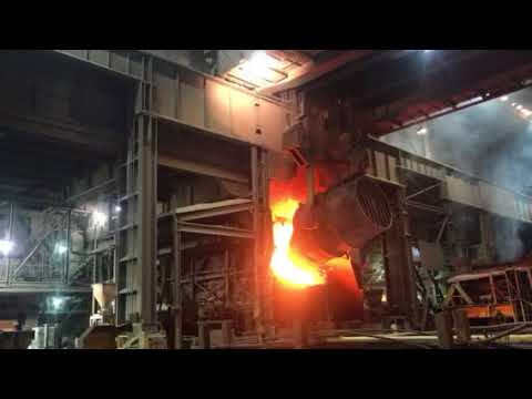 Steelmaking at ArcelorMittal Indiana Harbor in East Chicago