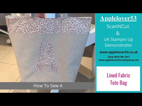 Appliqué Shopping Tote Bag