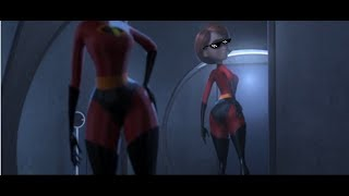 the incredibles but all moments are elastigirl's butt