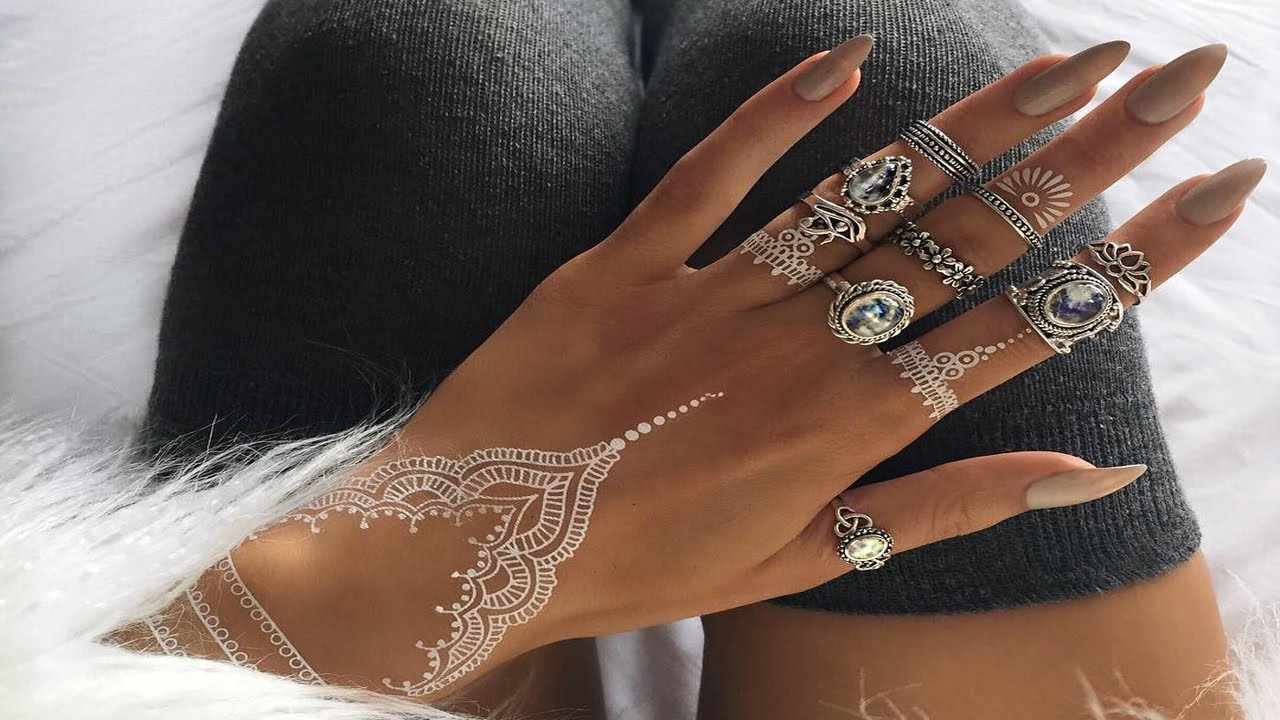 Amazing Henna: Beautiful And Amazing White Henna Designs That You Can Try