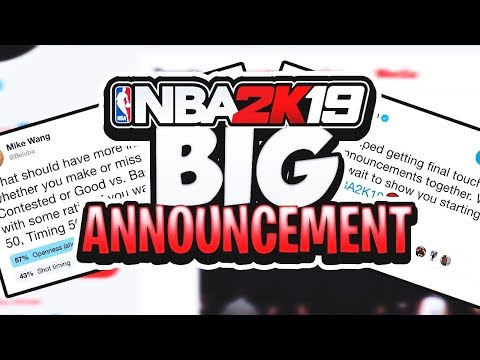 NBA 2K19 HUGE ANNOUNCEMENT MADE BY RONNIE2K - MYTEAM + PARK NEWS