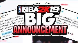 NBA 2K19 HUGE ANNOUNCEMENT MADE BY RONNIE2K - MYTEAM + PARK NEWS