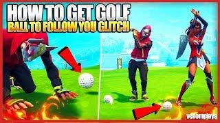 Run with Golf Ball Glitch! Golf Ball Emote Bug in Fortnite!