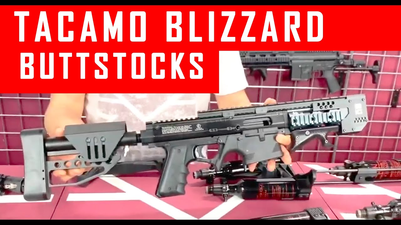 Tacamo Blizzard Paintball Gun Buttstock Options