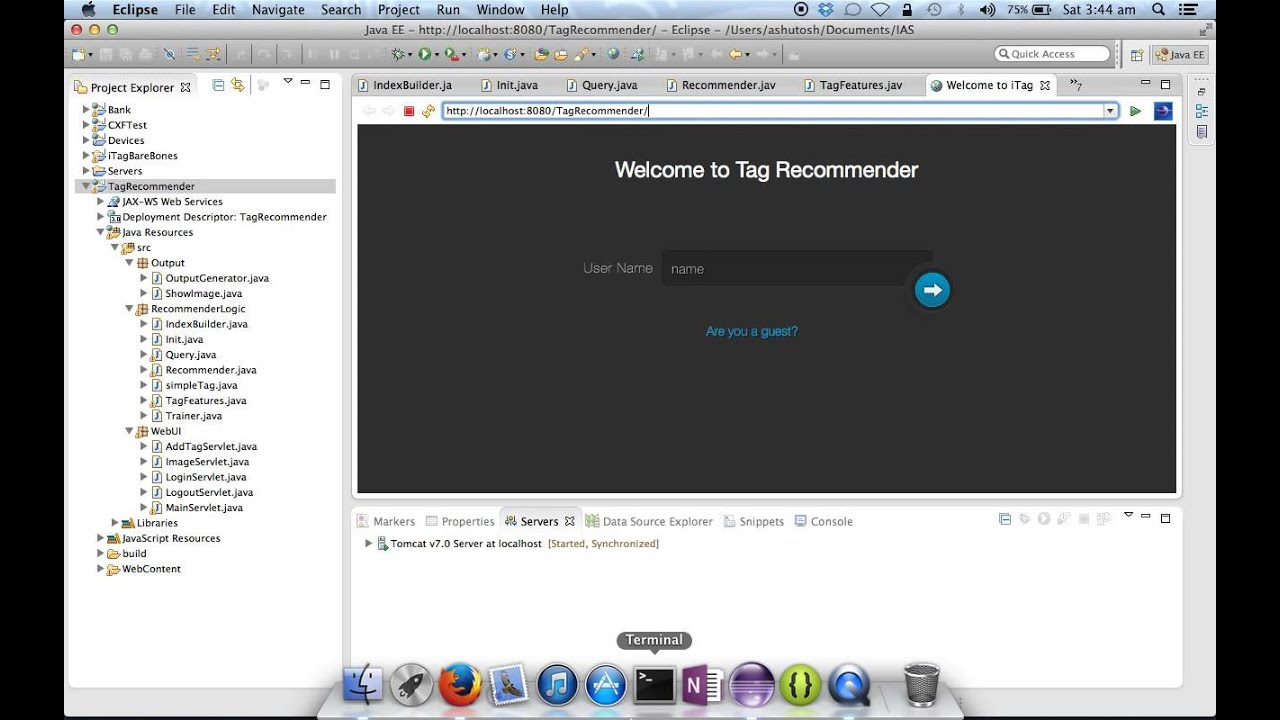 Tag Recommender System for Bookmarking - IRE Project