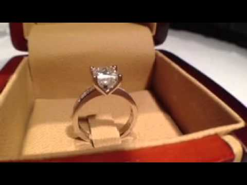 1.50 carat Princess Cut Classic Style Engagement Ring
