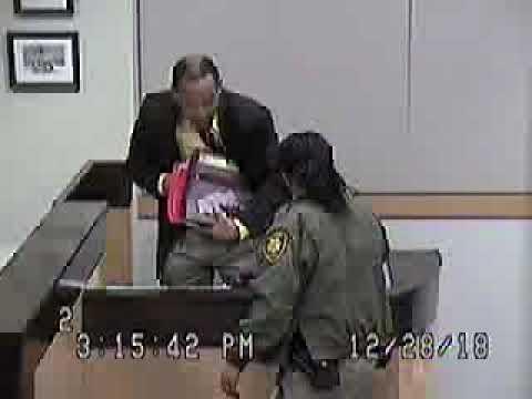 Family Court Pro-Se-Litigant & Veteran Burke Hall puts on his case in Judge Pomrenze Courtroom 4-4 by Steve Sanson