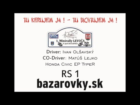 1. Minirally Levoča 2016 - Ivan Olšavský a Matúš Lejko - RS 1